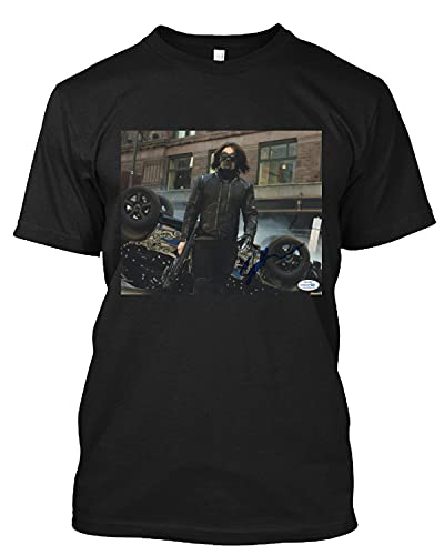 CAROLAKHA #Sebastian Stan The #Martian Signature T Shirt Gift Tee for Men Women Black
