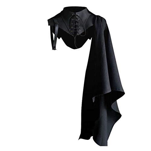 erticvtiu Linhuahua - Capa de longitud completa para Halloween, Navidad, disfraz de capa de 47 pulgadas (negro)