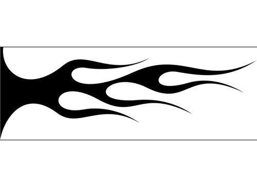 Airbrush Schablone Flammen C548