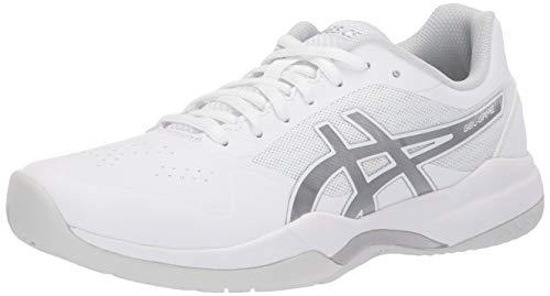 ASICS Women's Gel-Game 7 Tennis Shoes, 10.5M, White/Silver