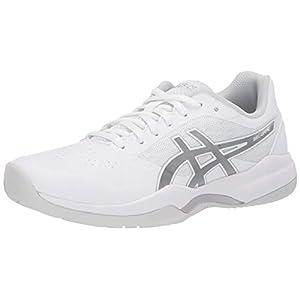 ASICS Women's Gel-Game 7 Tennis Shoes, 11.5, White/Silver