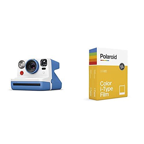 Polaroid - 9030 - Polaroid Now Fotocamera Istantanea i-Type, Blu + 6009 - Pellicola Istantanea Colore per i-Type – Confezione Doppia