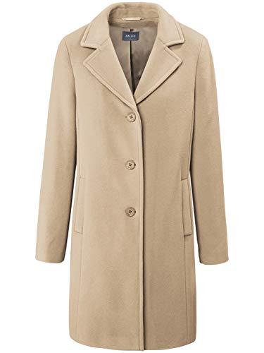 Basler Damen Mantel in Uni-Design mit Reverskragen