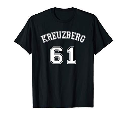 Kreuzberg 61 Berliner Bezirk Nostalgie Design Weißer Text T-Shirt