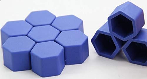 NO LOGO LM-LUOMAO, 20 Teile/los 17mm Silikon Radmutter Kappen Auto Motorrad Auto Radmutter Abdeckung hub Bolzen Auto-Styling zubehör Innen autoplanen (Color : Blue)