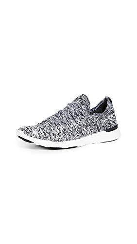 APL: Athletic Propulsion Labs Women's Techloom Wave Sneakers, Heather Grey/Black/White, 8.5 Medium US