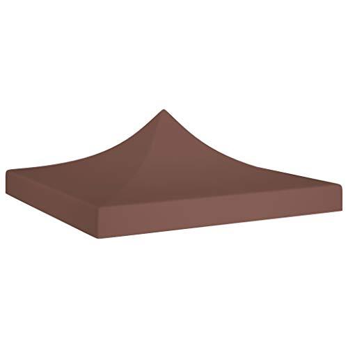 UnfadeMemory Partyzelt-Dach Ersatzdach Zeltdach Pavillondach Faltpavillon Dach für Gartenpavillon Partyzelt Gartenzelt, 600D Oxfordgewebe mit PVC-Beschichtung (2x2 m, Braun)