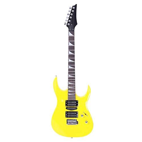 SISHUINIANHUA E-Gitarre HSH Pickup Bag Strap Paddel-Rocker Kabel Schlüssel-Werkzeug Gelb