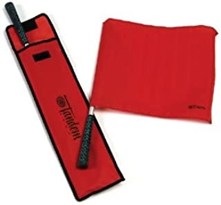 Tandem Sport Red Linesman Flag Elite with Golf Grip Handles - Set of 2 with Carrying Bag