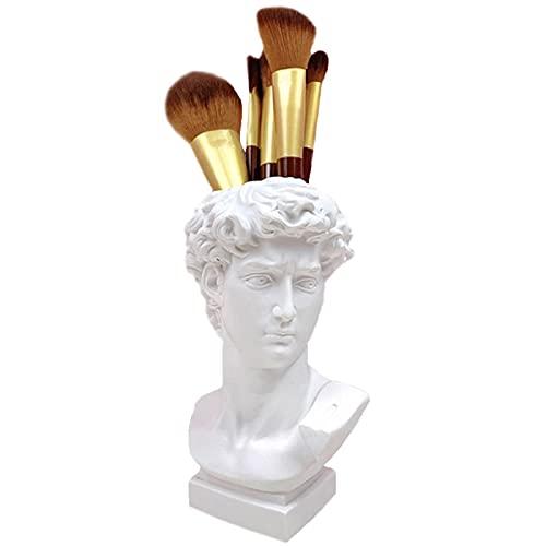 LFDD Soporte para Pinceles De Maquillaje Estilo Estatua Romana Organizador De Almacenamiento De Cosméticos Pinceles De Maquillaje De Resina Jarrón para Taza