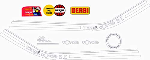 Kit de adhesivos motos clasicas DERBI Coyote S.E. - Juego Pegatinas Completo - Vinilo para Moto, máxima Calidad.