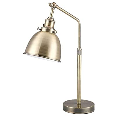 CO-Z Vintage Desk Lamp with LED Bulb, Metal Task Lamp Adjustable, Modern Industrial Style Work Lamp, Reading Lamp, ETL Certificate.