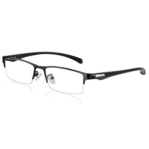 Glass mannen- en vrouwelijke leesbril, intelligente lichtgevoelige zonnebril met 100 ° -300 ° anti-UV-straling, bovenste en onderste Progressive multifocale leesbril Fyxd