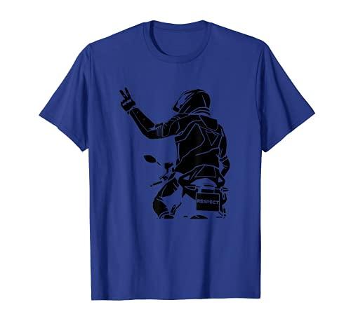Respeto Motos Matrícula Placa - Moto Motero Camiseta