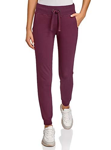 oodji Ultra Damen Sport-Hose mit Bindebändern, Violett, XXS