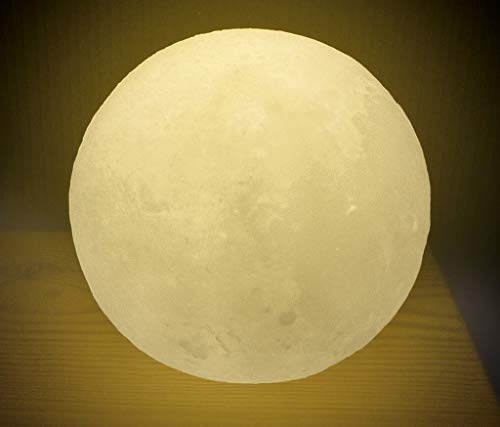 Leuchtender Mond Lampe | Nachtlicht für Kinder mit Timer-Funktion | Stimmungsvolles Dekolicht