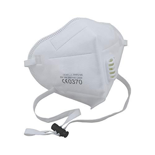 CE-Zertifizierte FFP3 Atemschutzmaske mit Ausatemventil 10 Stück Packung einzelverpackt im hygienischen PE-Beutel Atem Maske Staubschutzmaske für alle Bereiche