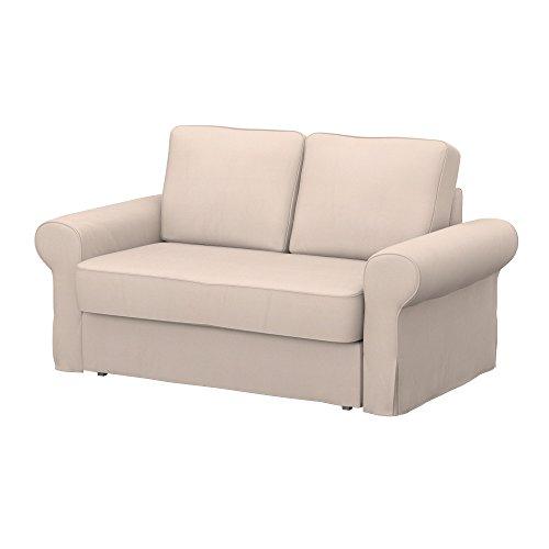 IKEA BACKABRO divano letto a 2 posti, tessuto Eco Leather Beige, beige