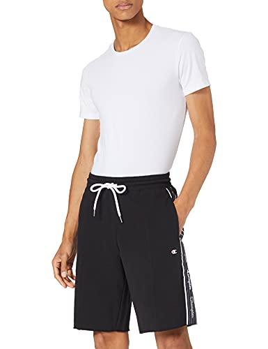 Champion Herren Seasonal American Tape Shorts Cargos, Black, M