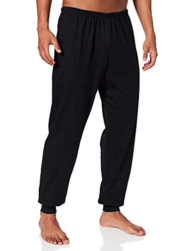 Trigema Herren 637096 Schlafanzughose, Schwarz (schwarz 008), Large