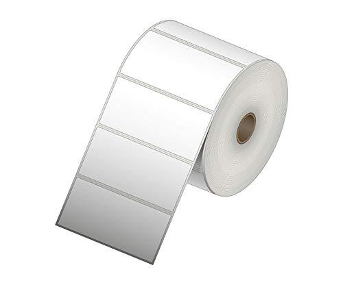 4 x 2 Thermal Transfer Paper Label Stickers - Printer Ribbon Required - 1370 Labels Per Roll - 1 Roll - for Datamax, Intermec, Sato, TSC, Zebra Thermal Transfer Printers