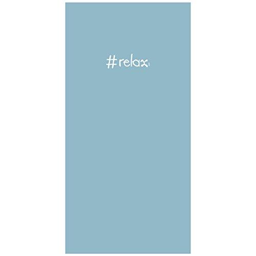 Incidence Paris 85228 Serviette de bain plage Microfibre Ipanemaïa Colorama Relax Bleu pâle 0,4 x 70 x 140 cm