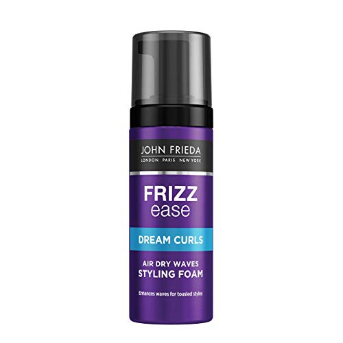 John Frieda Frizz Ease Air Dry Waves Styling Foam for Wavy and Curly Hair, 150 ml