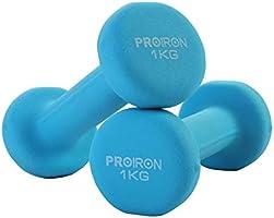 PROIRON Haltères en Néoprène Paire d'haltères de 1kg à 10kg dans Différents Poids (2er-Set)