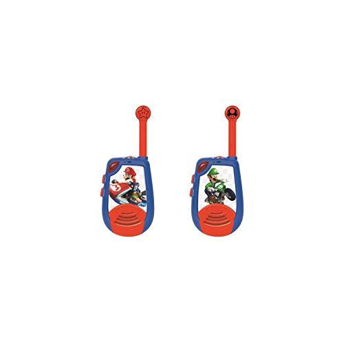 LEXIBOOK- Super Brothers Nintendo Mario Kart - Walkie-Talkies Digitales para Niños - Rango transmisión hasta 2 kms, Morse...