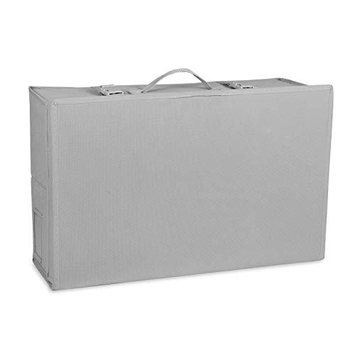 Hoesh International Light Grey Wedding Breathable Bridal Gown Dress Travel Storage Large & Medium Box With Acid Free Tissue Paper Included - UK Seller (Medium)