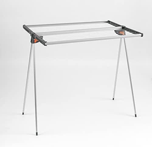 Juwel droogrek Alu Twist 140 (compacte vorm, voor 1,5 wasmachines, ca. 13,7 m ophangplek, roestvrij) 15709