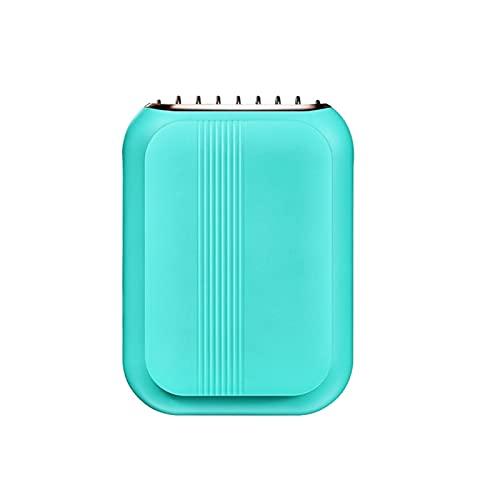 KKmoon Ventilador de Cuello,Ventilador Recargable USB de 3 Velocidades, Silencioso y Duradero para Oficina, Hogar, Viajes al Aire Libre(Verde)