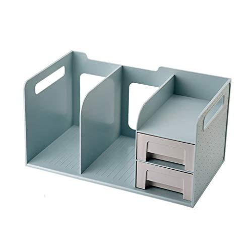 Organizador de archivos Blue Multi-capa Carpeta Rack Rack Revista Rack File Storage Rack Adecuado para oficinas y cajas de almacenamiento de escritorio para el hogar Organizador de Documentos