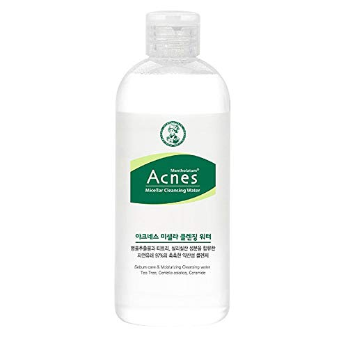 [Acnes]Micellar Cleansing Water - Acne Eliminating Face Cleanser, Balance Oil Cleansing Water with Tea tree, Centella Asiatica for Oily and Sensitive Skin Korean Skincare #Dab1163