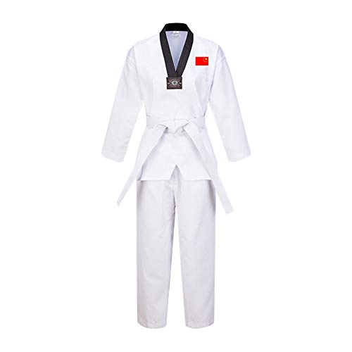 Gtagain Unisex Adulto Niño Taekwondo Kimono Dobok Sudadera Uniforme Traje Gi - Hombre Ropa Deportiva Artes Marciales Karate Kung Fu Conjuntos Cinturón Algodón/Poliéster Manga Larga/Manga Corta