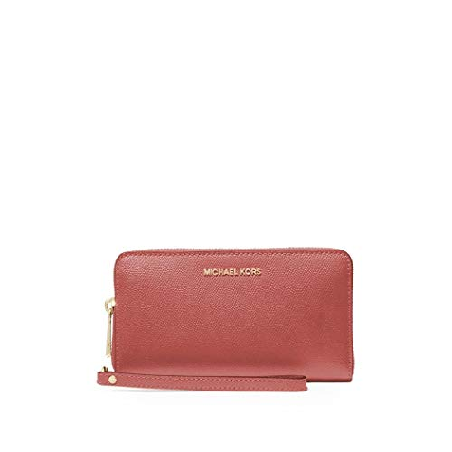 Luxury Fashion | Michael Kors Dames 34F9GTVE9L821 Roze Leer Portemonnees | Lente-zomer 20