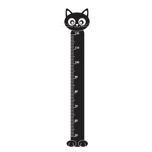 Supertogether Croissance Cat Enfants Toise Chambre Wall Sticker