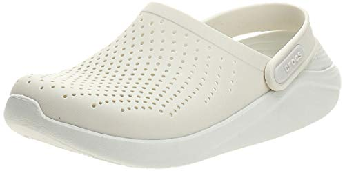 Crocs UnisexAdult LiteRide Clog   Athletic Slip On Comfort Shoes Almost White/Almost White 8 US Women / 6 US Men