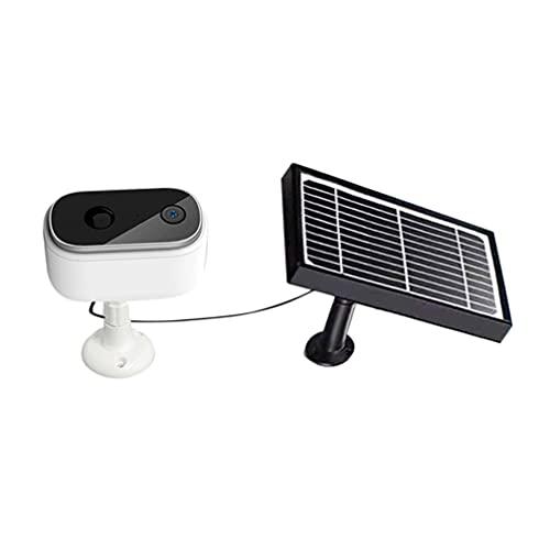 EXCEART Cámara de Vídeo de Seguridad Inalámbrica con Energía Solar Cámara Casera Detección de Movimiento Gran Angular Lente de Monitoreo de Alta Definición