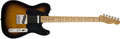 Fender 0131212303 Road Worn '50s Telecaster Maple Fingerboard E-Gitarre - Sunburst-P Volle Größe sunburst