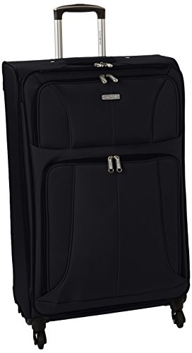 Samsonite Aspire XLite Softside Expandable Luggage with Spinner Wheels, Black, Checked-Medium 25-Inch