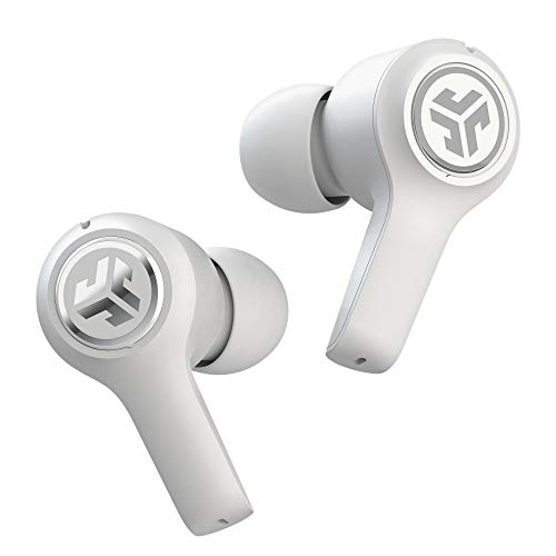JLab JBuds Air Executive True Wireless Bluetooth Earbuds + Charging Case - White - C3 Calling with Dual Microphones - Long Travel Playtime - Bluetooth 5.0 Connection - 3 EQ Sound Settings…
