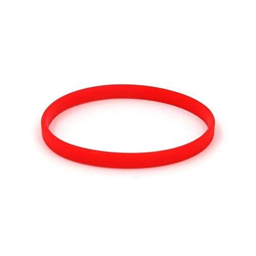 HXSZWJJ 5 Stück Mix Armband Gummi Silikon Männer Frauen Kinder-Armband for Mann-Geschenk Schmuck Glow In The (Metal Color : Red)