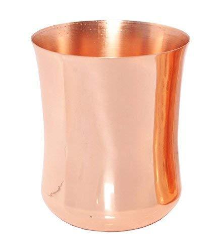 WorldOfIndianArt - Cristal de cobre puro con acabado liso para decoración del hogar