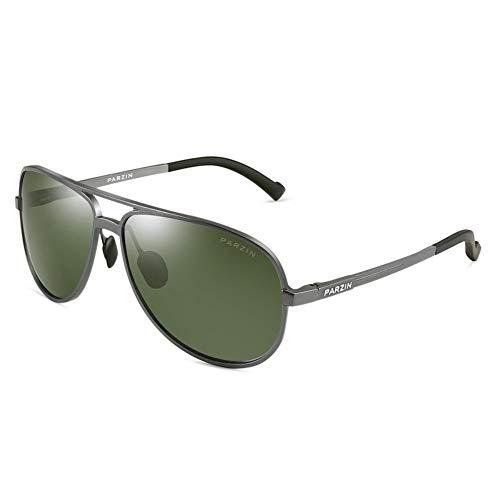 parzinkk Gafas De Sol Para Hombre Ligeras Polaroid Clásicas Gafas De Sol Con Textura Clásica Gafas De Sol De Conducción Verde Oscuro
