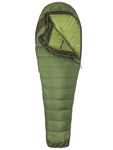 Marmot Trestles Elite Eco 30 Long Sac de Couchage Mixte Adulte, Vine Green/Forest Night, FR Unique (Taille Fabricant : 198 cm)