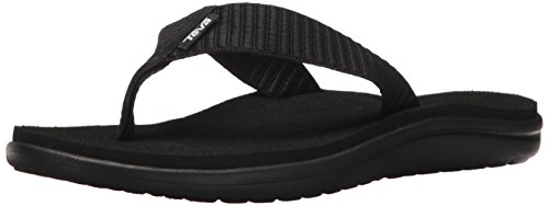 Teva Women's W Voya Flip Flop, bar Street Black, 9 M US