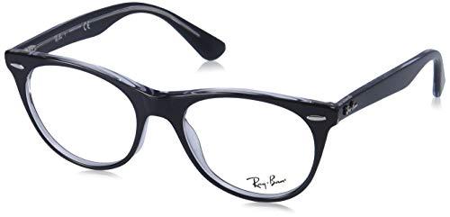 Ray-Ban Wayfarer II Gafas, BLACK ON TRANSPARENT, 52 Unisex