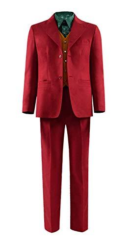 Qian Qian Herren Ritter Joker Cosplay Kostüm Halloween Anzug Hemd Weste Hosen Komplett Set Outfits (L, Stil 2)