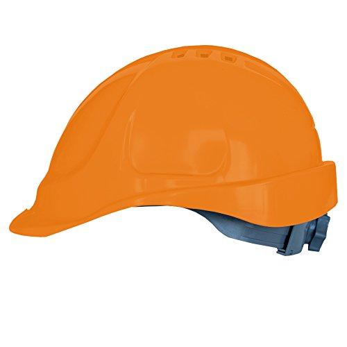 Elmetto lavoro con regolazione a scorrimento, Casco da Lavoro Casco di Protezione Casco per Cantiere (Аrancio)